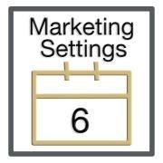 Step 6: Marketing Settings