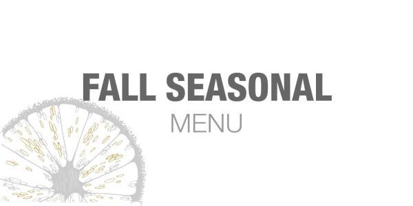 Fall Seasonal Menu