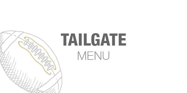 2019 Tailgate Catering Menu