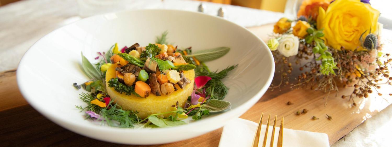 Polenta with winter vegetables