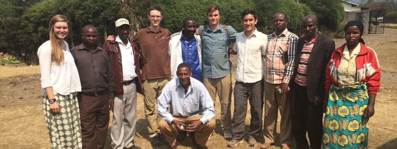 EWB group with Rwanda locals