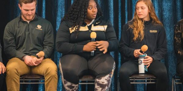 Student athlete panel at the 2019 Inclusive Sports Summit