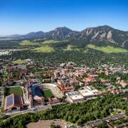 CU Boulder campus from the air.
