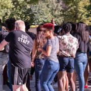 students gather for the annual CUnity Fest
