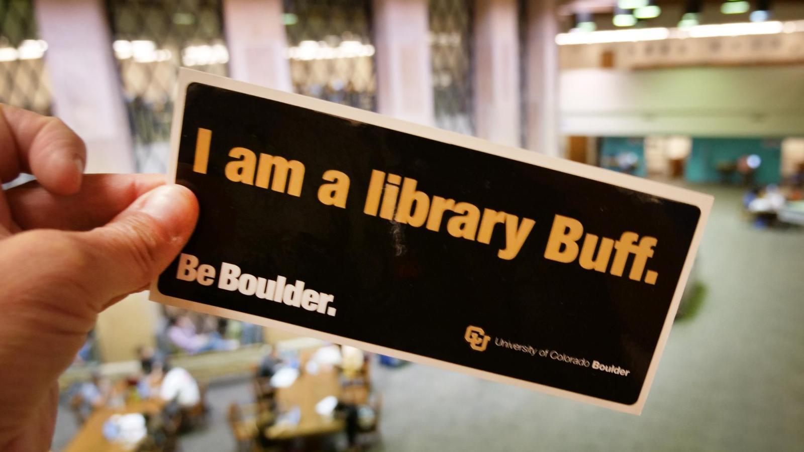 I am a library Buff sticker
