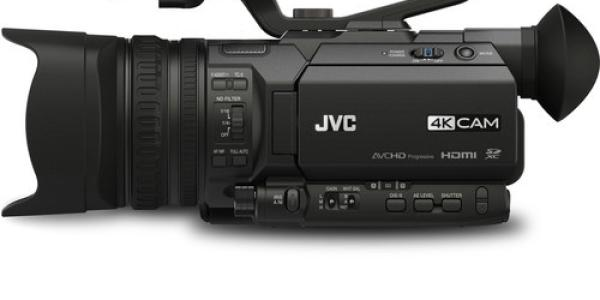 JVC GY-HM170UA 4KCAM Compact Professional Camcorder with Top Handle Audio Unit