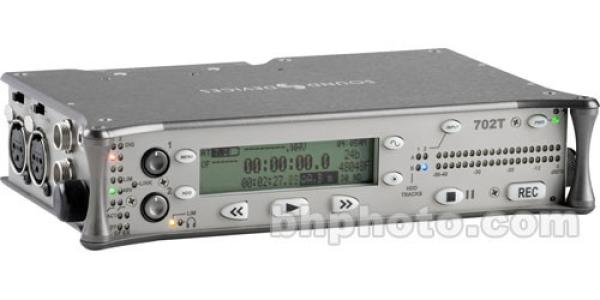 Sound Devices 702T High-Resolution 2-Channel CompactFlash Field Recorder with Time Code