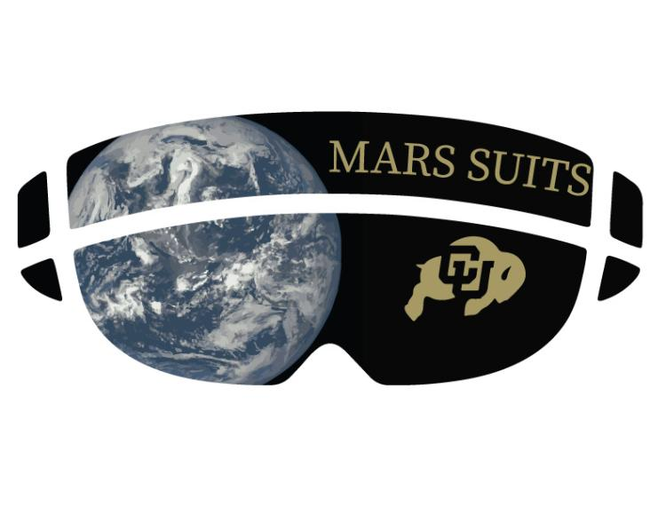 CU Boulder's SUITS logo of the outline of a hololens and inside you can see the earth and the CU logo