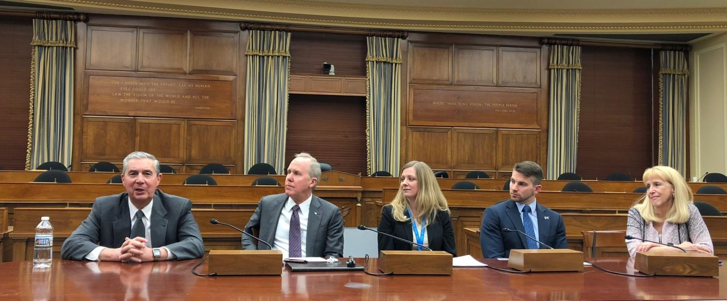 Jack Burns at Panel session on Capitol Hill in DC on the Moon to Mars program in April 2019 cropped