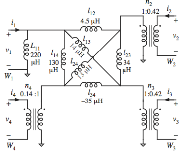 an equivalent circuit model that can be directly measured and that predicts the observed cross-regulation performance.