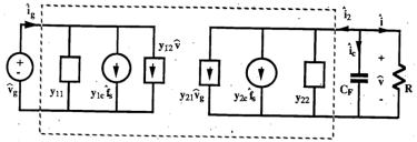 y-parameter model of the series resonant converter in a parallel circuit with one resistor, one battery, and several power sources