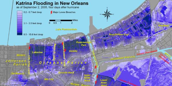 Post-Katrina sampling in flood impacted homes.