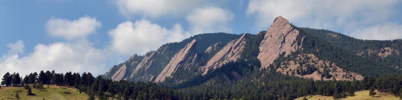 Boulder Colorado Flatiron mountains