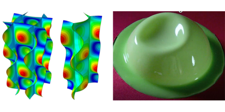 Examples of research on the buckling of thing shells, such as honeycomb or spherical shells