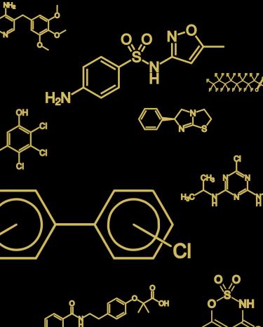 Chemical Diagrams of random molecules.