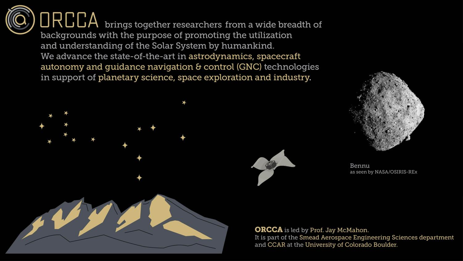 Overview graphic of ORCCA Lab