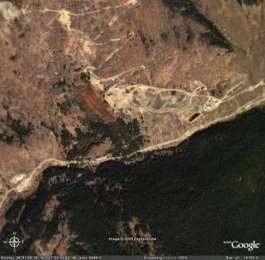 aerial photograph of keystone mine