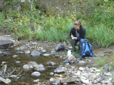 shanklin collecting samples
