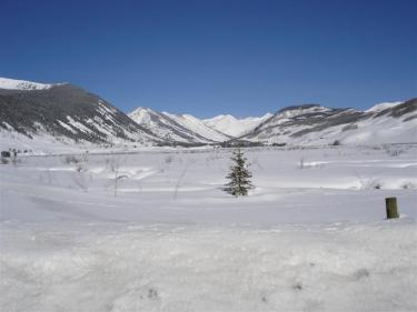 coal creek watershed, snowy weather