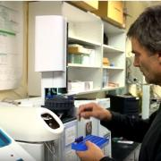 Joe Ryan in his lab test samples