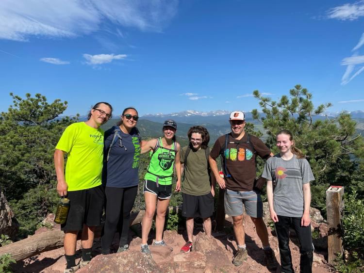 Part of Whitehead group on Green Mt in Boulder