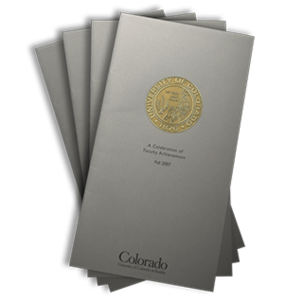 2007 front cover of the Celebration of Faculty Achievement publication brochure