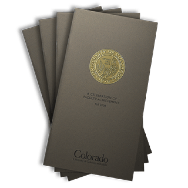 2008 front cover of the Celebration of Faculty Achievement publication brochure