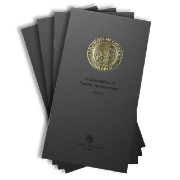 2012 front cover of the Celebration of Faculty Achievement publication brochure