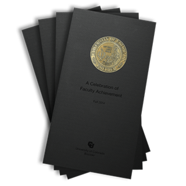2014 front cover of the Celebration of Faculty Achievement publication brochure