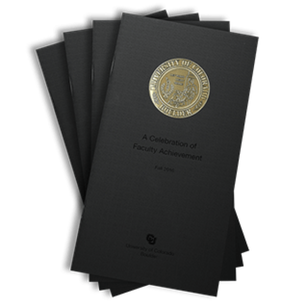 2016 front cover of the Celebration of Faculty Achievement publication brochure