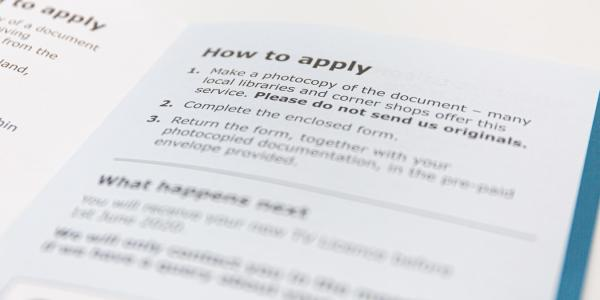 Documents on how to apply and fill forms