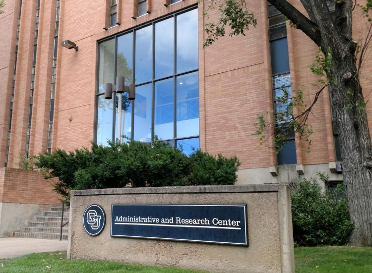Administrative and Research Center building on CU Boulder campus