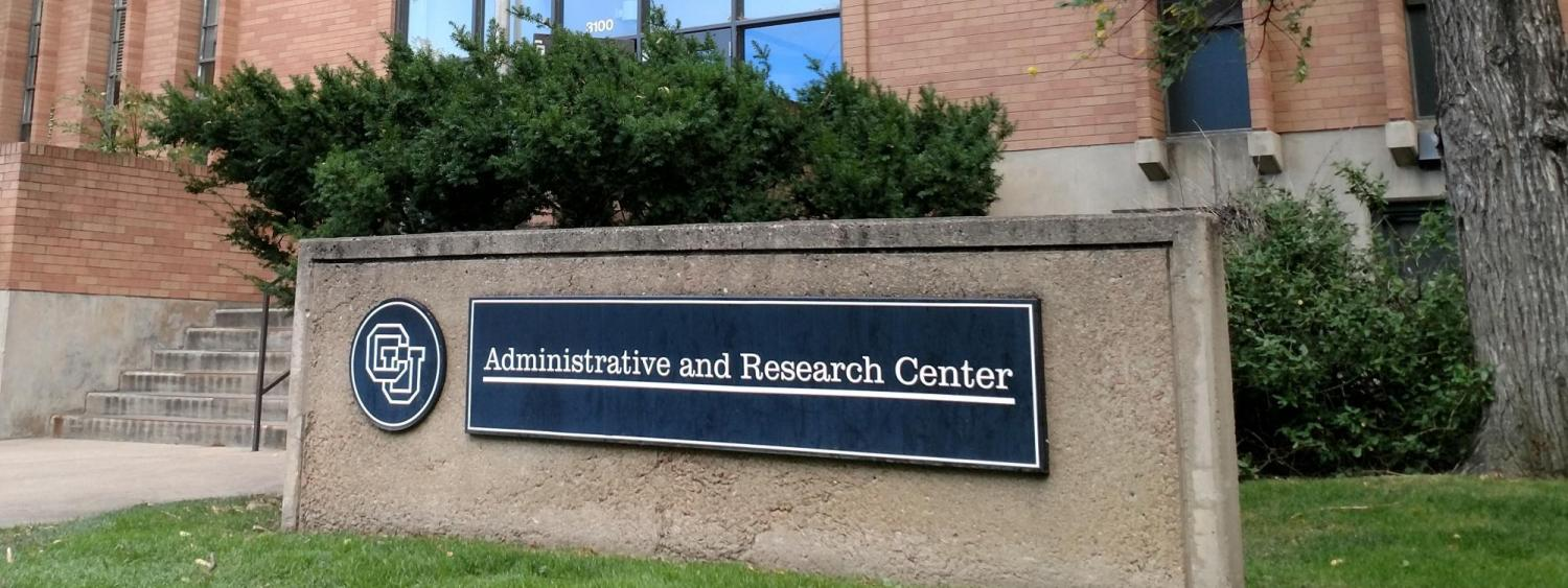 Administrative & Research Center building at CU Boulder