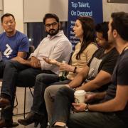 Panel members sitting