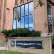 Administrative & Research Center building at CU Boulder