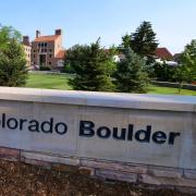University of Colorado Boulder sign