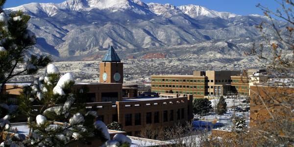 Clocktower on the University of Colorado Colorado Springs campus.