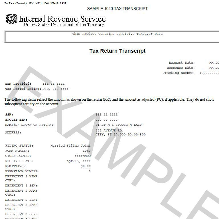 Examples of Tax Documents | Office of Financial Aid
