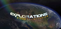 Explorations Film Title with Earth in the background