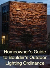 Homeowner's Guide to Boulder's Outdoor Lighting Ordinance cover photo