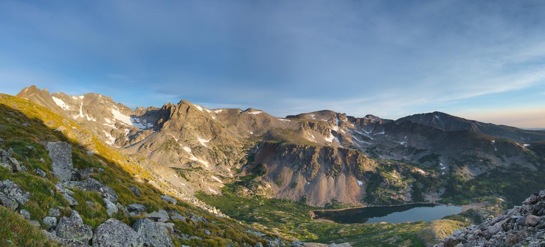 Isabelle Glacier, Colorado at Sunrise