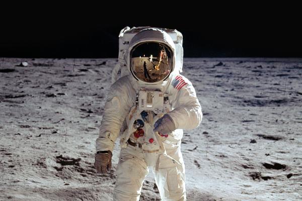 Photo of astronaut on the moon