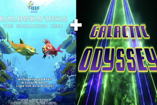 Posters and still images from Kaluokahina and laser galactic odyssey