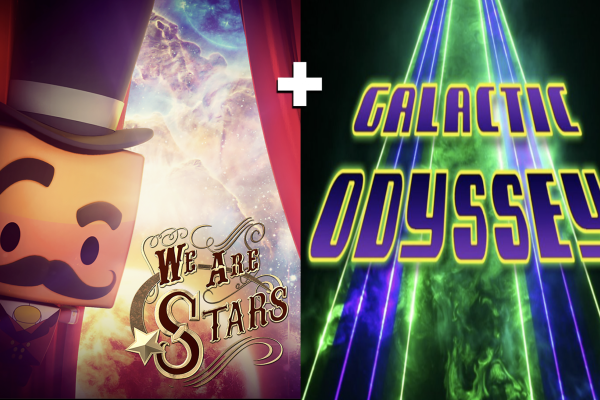 Posters and still images from films of We Are Stars and Laser Galactic Odyssey