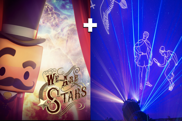 Posters and still images from films of We Are Stars and Perseus and Andromeda