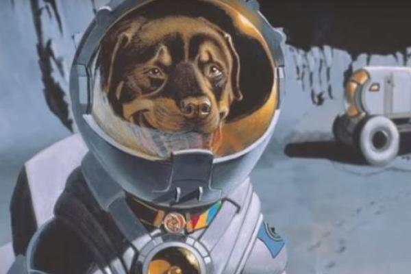 Max goes to the moon still image from film