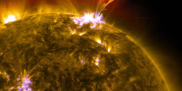 Solar Dynamics Observatory composite of a solar flare