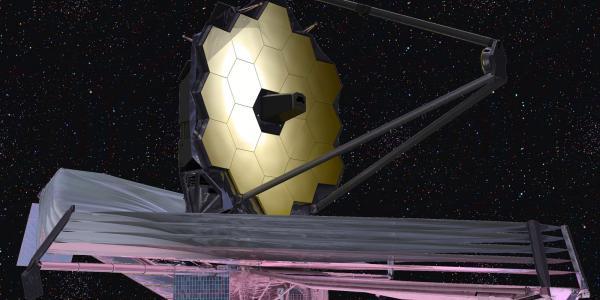 Artist illustration of the James Webb Space Telescope