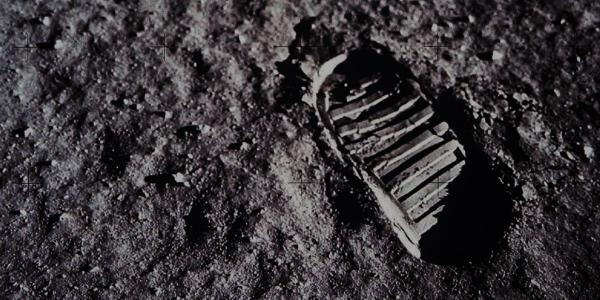 Apollo 11 Bootprint on the Moon