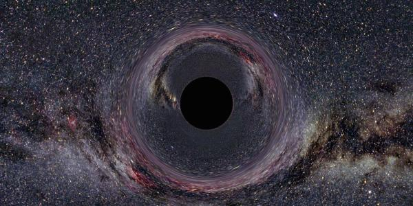 Artist illustration of a black hole